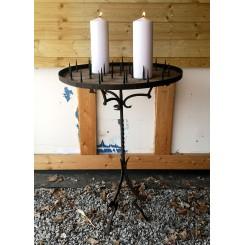 Antik Fransk Lysbord [H92xØ64cm]