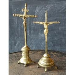 Krucifiks Messing [35cm] Antik