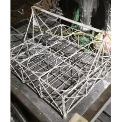 Gammel Fransk Glasholder - 9 Huller