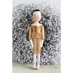 Trædukke Primitiv dukke  [Peg doll] H28,5cm