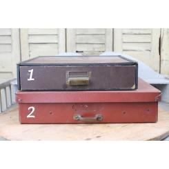 Gl. Franske Opbevarings kasser med Håndtag |Pr. stk