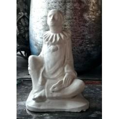 Gl. Fransk Skulptur Pierrot [H13,5cm]