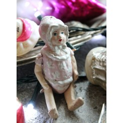 Gammel Porcelænsdukke [L9cm] Baby |Pr stk