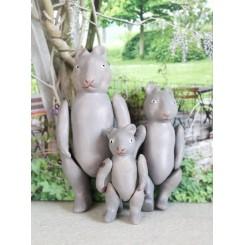 Kanin-familie Porcelæn [3 stk]
