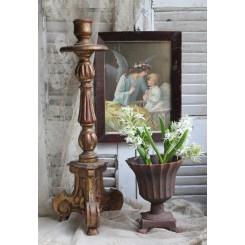 Antik Alter lysestage [Træ/Guld] H50cm