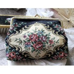Vintage Pung Taske [15x11cm] Gobelin