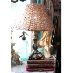 Gammel Fransk Lampe ART NOUVEAU [33cm]
