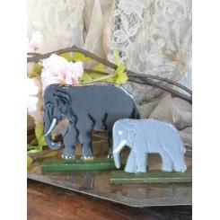 Erzgebirge Legetøj 2 x Elefanter [store]