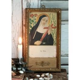Nonnen Skt. Rita Billede [H18x10cm]