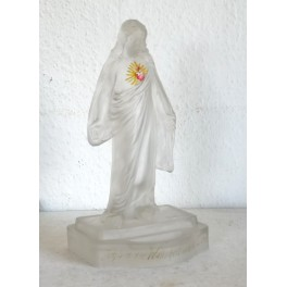 Antik Jesus Lysestage/vievand Glas [H26 cm] *