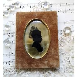Gl. Miniature Billede [Glasmaleri] Silhuet