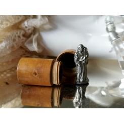 Lommealter Lommefigur m. Træ-Etui [St. Antonius]