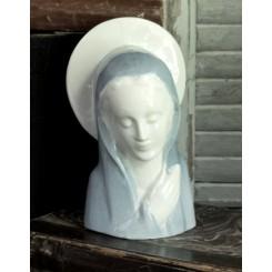 Fransk Madonna med Glorie Buste [H17cm] Porcelæn