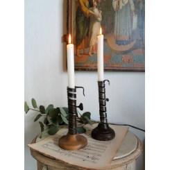 Antik Fransk Spiral Lysestage [22cm] Vinkælderstage*