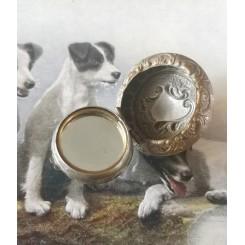 Antik Art Nouveau Pilleboks/medaljon [med Spejl]