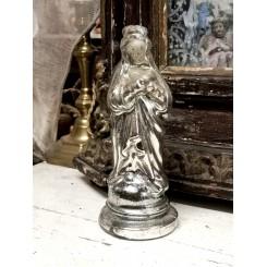 Antik Fattigmandssølv MADONNA [H-19 cm]