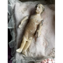 Antik Jesusbarn i Træ [H23cm] 1700-tallet