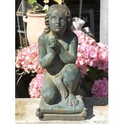 Gl. Fransk Skulptur [H42cm] Patineret Jern
