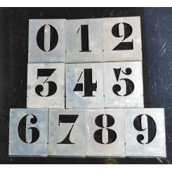10x Franske Stencils/Tal [10.5x9cm] Zink