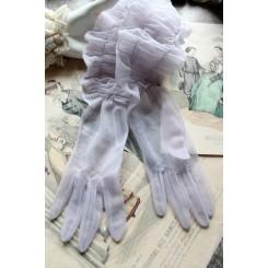 VINTAGE Handsker i SYREN [Balhandsker] 1950'