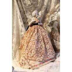 Gl. Fransk Half doll (33cm) Marie-Antoinette