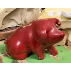Gammel Rød Sparegris [8,5x14cm]