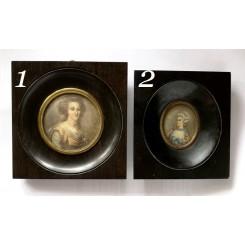 Gl. Miniature Billeder [Kvinder] Pr. Stk