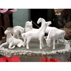 Gamle Heste Porcelæn [L8,5cm] Pr. stk