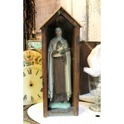 Nonne Skt. Therese i Glaskasse [H38cm] ~1950