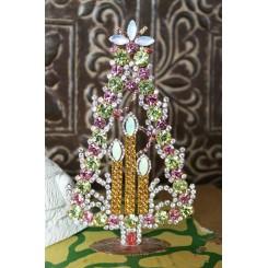 Juletræer med Rhinsten KLAR/PINK [H17,5cm] Bling-Bling