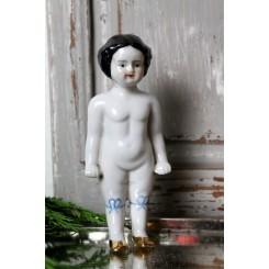 Gammel Badedukke Porcelæn [16cm]