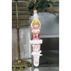Vintage Julekugle - Ballerina med Sløjfe [19cm]