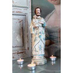 Josef med Jesusbarn Biscuit [H31cm]