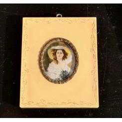 Gl. Miniature Billeder Perlemor[10,5x8,5cm]