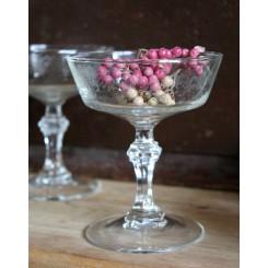 Gamle Franske Champagneskåle [8 stk] Præget Glas