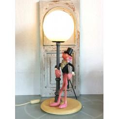 Gammel Italiensk Lampe DEN LYSERØDE PANTER [H52cm]