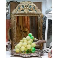 GL. Grøn Vindrueklase  [Italiensk Alabast] L38,5cm