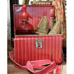 Vintage RØD Kuffert Taske [16x25x17 cm]