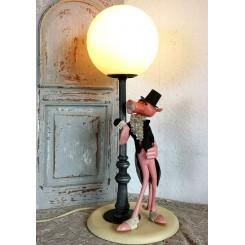 Gammel Italiensk Lampe DEN LYSERØDE PANTER [H53cm]