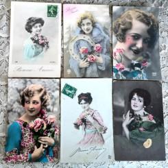 Gamle Nostalgiske Postkort [KVINDER] PR. STK