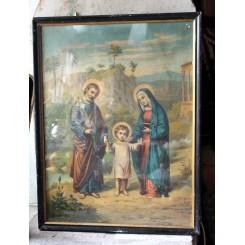 Meget gammelt religiøst billede [44,5x34,5cm]
