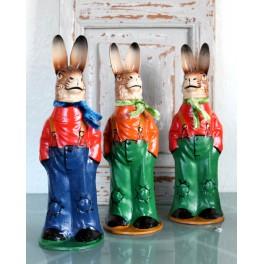 Hare Papmaché Candycontainer [H25cm] 'Gadedreng'  Pr. stk