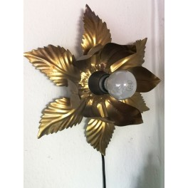 Vintage Hollywood Flower Design Wall Lamp Willy Daro Style Blomsterlampe 70'erne