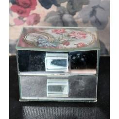 Fransk Art Deco bijouxskrin spejlskrin [med motiv]