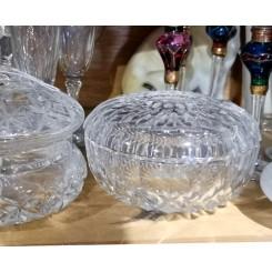 Gammel Bonbonniere Krystal [H7,5xØ12,5cm]