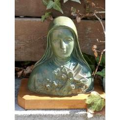 Nonne Skt. Therese Metal Buste [H16cm]