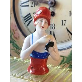 Art Deco Badepige Buste [Half Doll] H-11cm | Baigneuse
