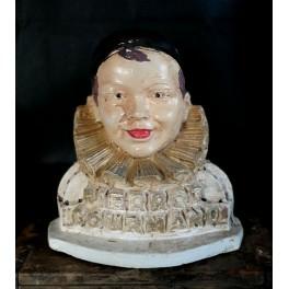 Hvid Fransk Pierrot Gourmand H22.5cm] SÆLDEN