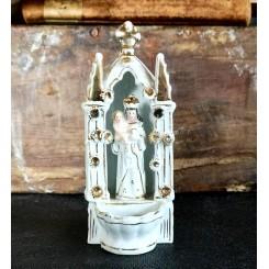 Antik Vievand MADONNA MED BARN [H12cm] Porcelæn