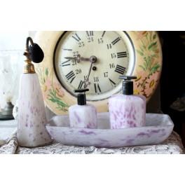 5x Toiletbordssæt Parfume [Opalglas] Art nouveau